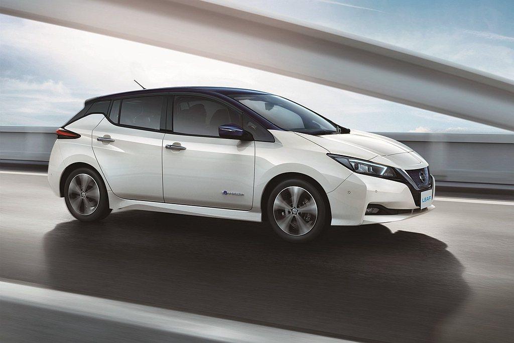 過往最熱賣的Nissan Leaf電動車去年僅以5.5萬輛銷售成績排名第七。 圖...
