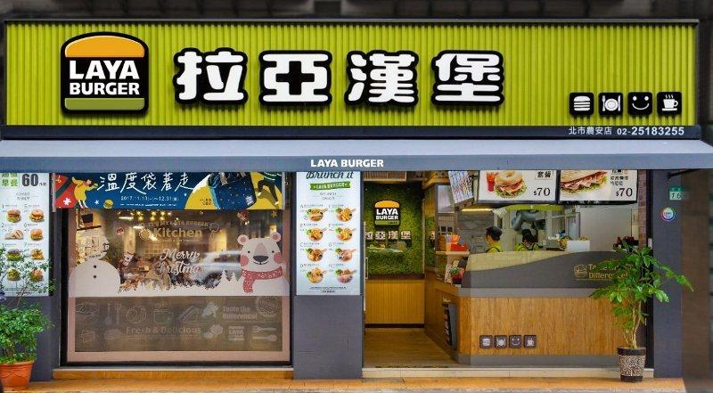 拉亞漢堡給加盟主3大店型自由選,圖為「都會全能店型」。 業者/提供