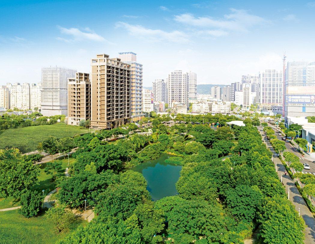 「竹城.新大阪」正對塭仔底生態公園第一排,公園宅是房價保值的保證。