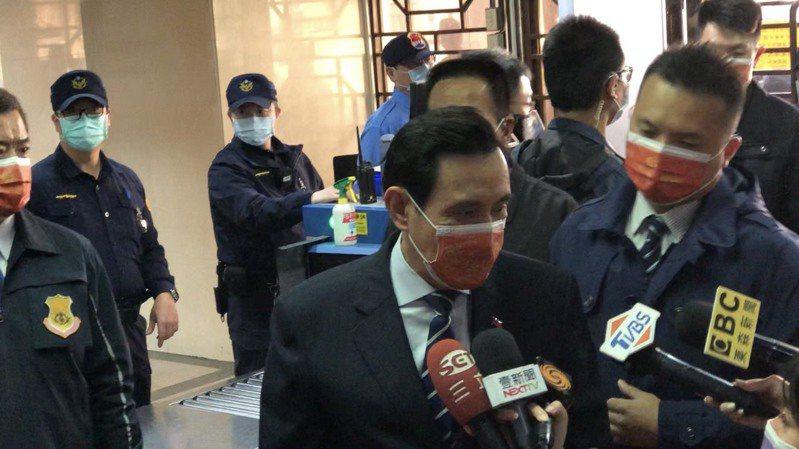 馬英九今天再為「三中案」到台北地院出庭。記者王聖藜/攝影