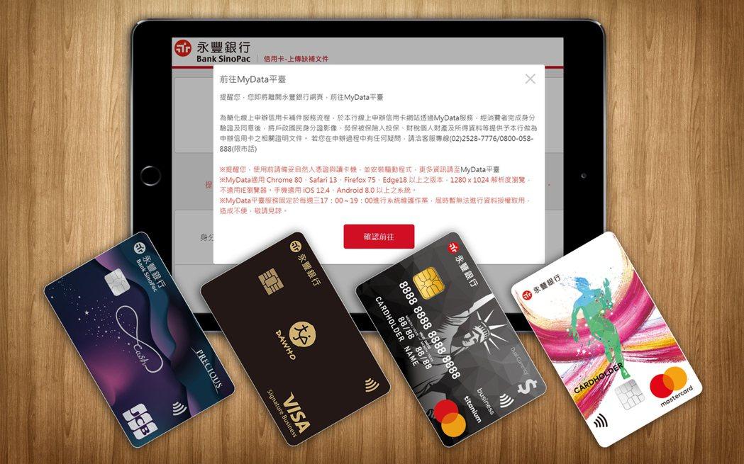 永豐銀行「永豐現金回饋JCB卡」、「幣倍卡」、「永豐SPORT卡」及「DAWHO...