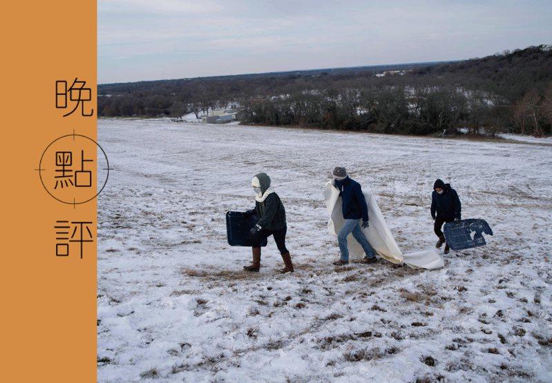 氣候變遷帶來的危害,電影「明天過後」的情節恐真實上演。圖為2月18日德州韋科。法新社