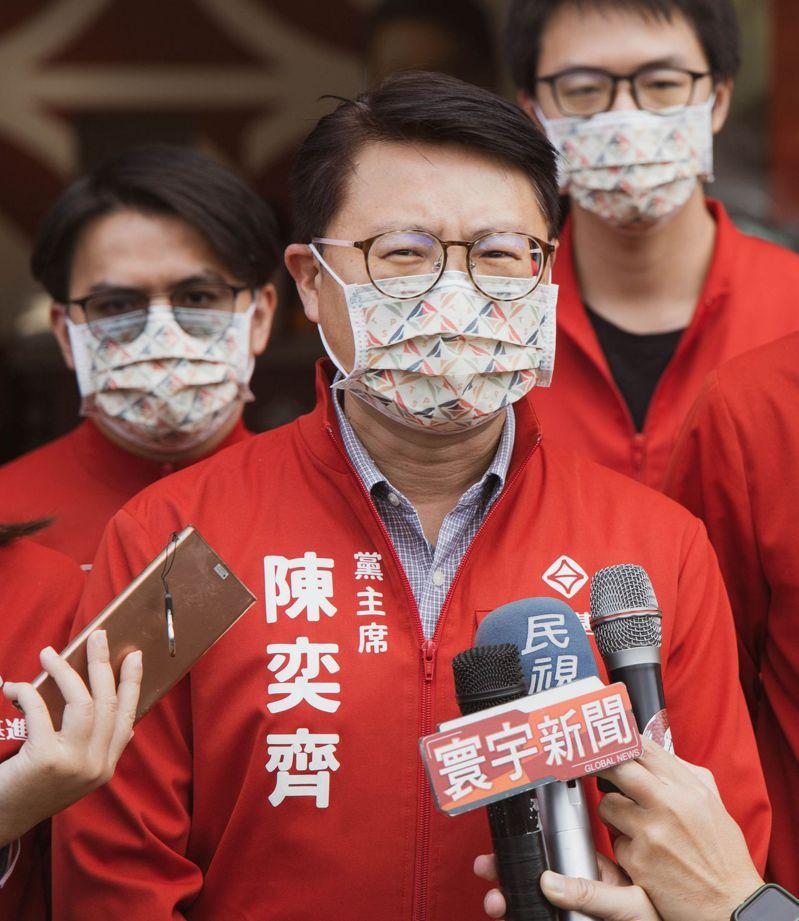 罷免民代案接續,包括台灣基進立委陳柏惟也在列,台灣基進黨主席陳奕齊今天籲「韓粉」停止非理性動員。圖/台灣基進提供