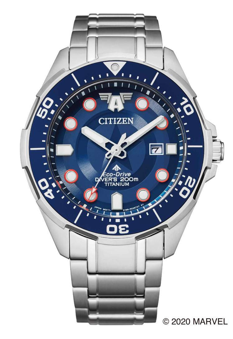 CITIZEN BN0208-54W腕表,鈦金屬表殼、表鍊20,900元。圖/C...