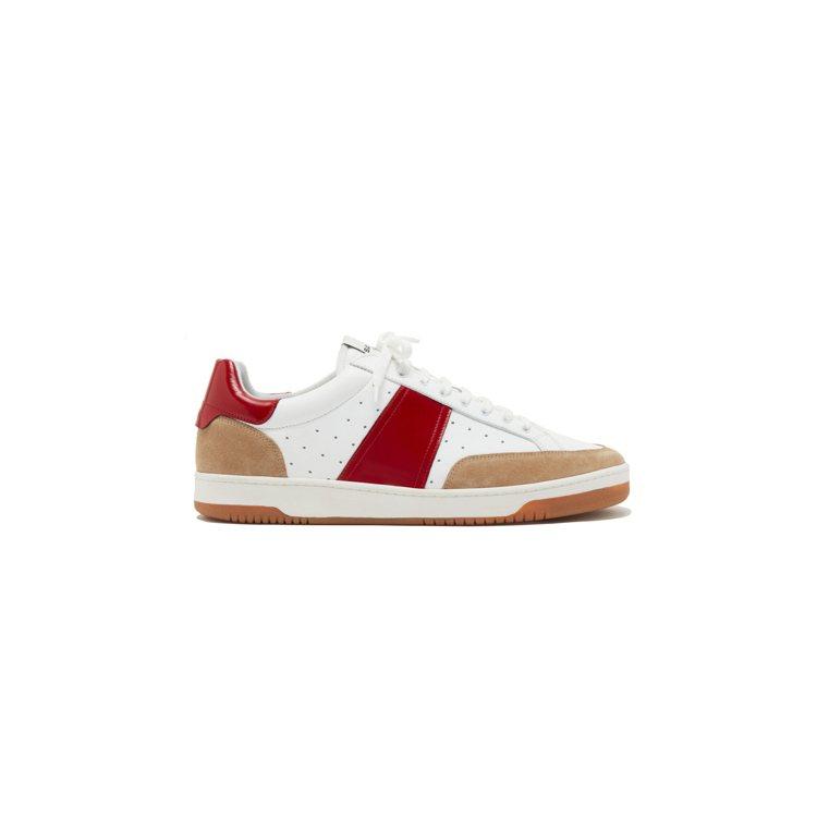 sandro Homme紅白色板鞋,10,900元。圖/sandro Homme...