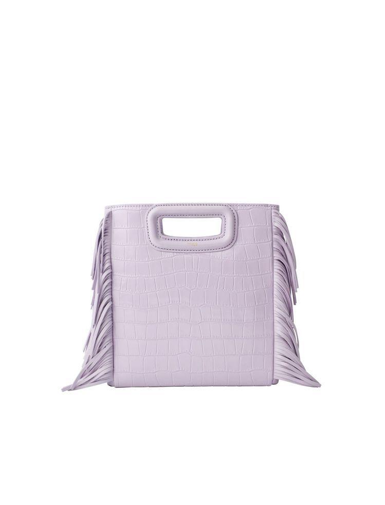 maje 薰衣草色M Bag,11,360元。圖/maje提供