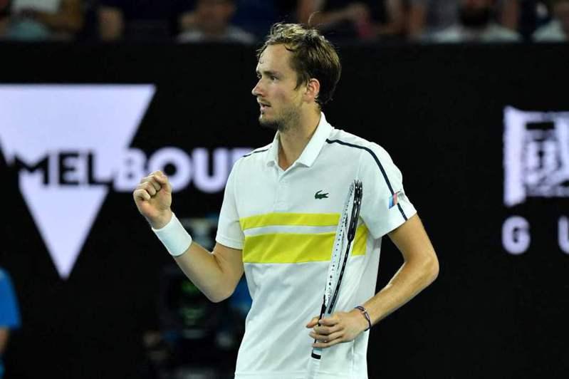 俄羅斯梅德維夫尋求生涯首個大滿貫冠軍。(法新社)