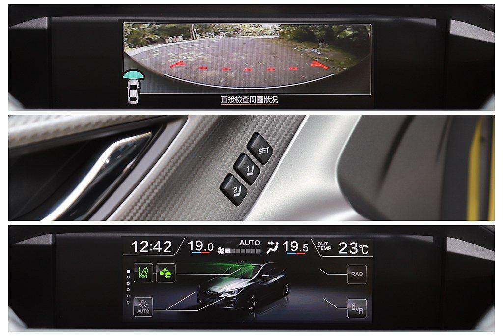 另外,FVM車前影像輔助系統、倒車後視鏡連動系統、速控上鎖以及駕駛座記憶功能(兩...