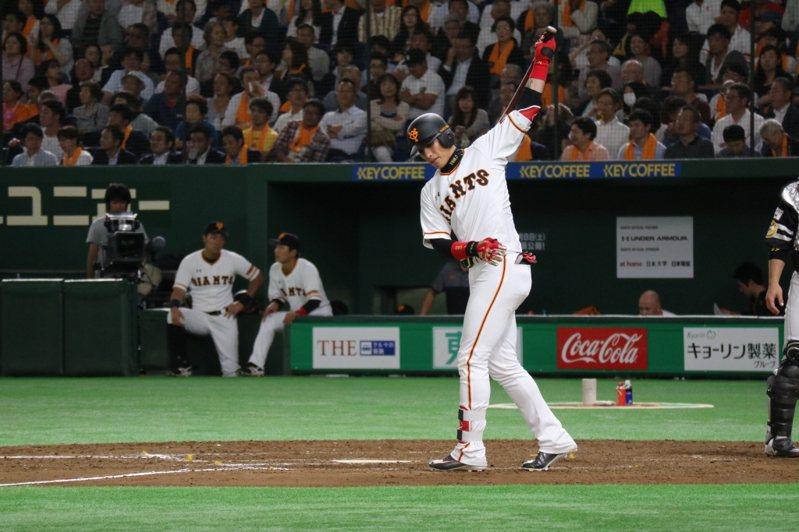 陽岱鋼在巨人已完全沒機會,日媒稱他唯一出路是回中職打球。 聯合報系資料照