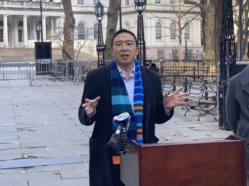 台裔企業家楊安澤參選紐約市長。記者和釗宇攝影/報系資料照