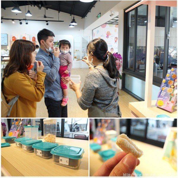 大小朋友一起試吃「果然茶香」的天然美味產品,喜歡什麼就到商品區購買