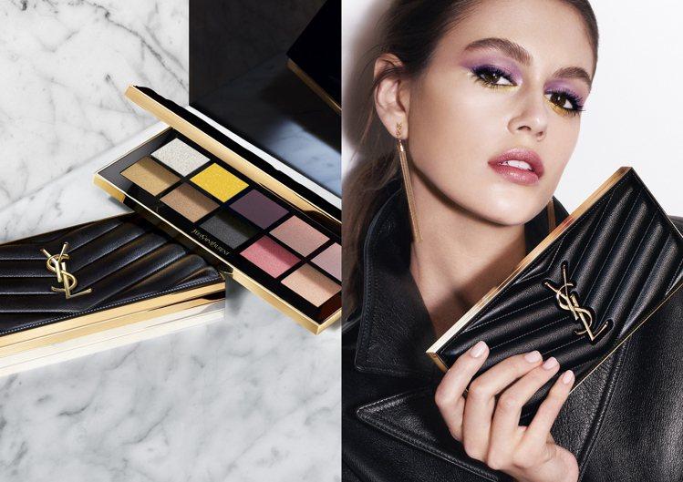 YSL訂製奢華皮革彩妝盤/3,600元。圖/YSL提供