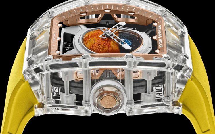 RM 52-02 Pharrell Williams陀飛輪腕表透明的藍寶石水晶表...