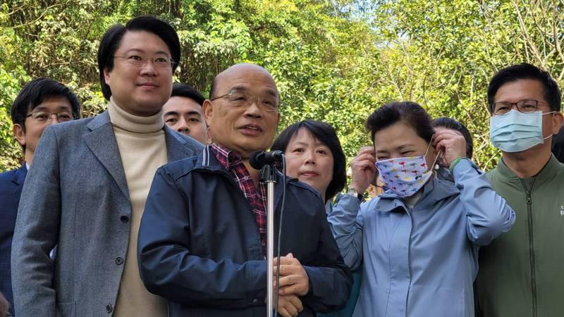 蘇貞昌說,兩任總統監委的提名,都通過對邱太三的檢驗。記者游明煌/攝影