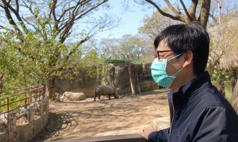 高雄市長陳其邁希望改造參觀動線之後的壽山動物園能讓更多市民前往參觀並留下美好的記憶。記者楊濡嘉/攝影