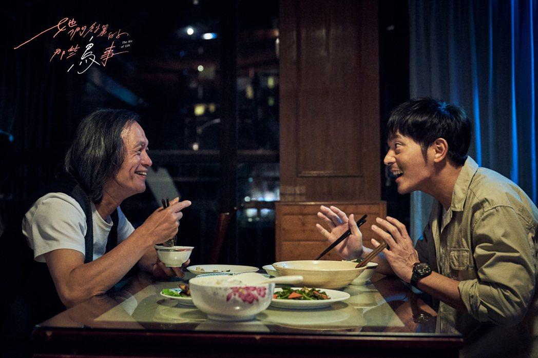 「她們創業的那些鳥事」中,林志儒(左)、宥勝父子戲很有感。圖/可米傳媒提供