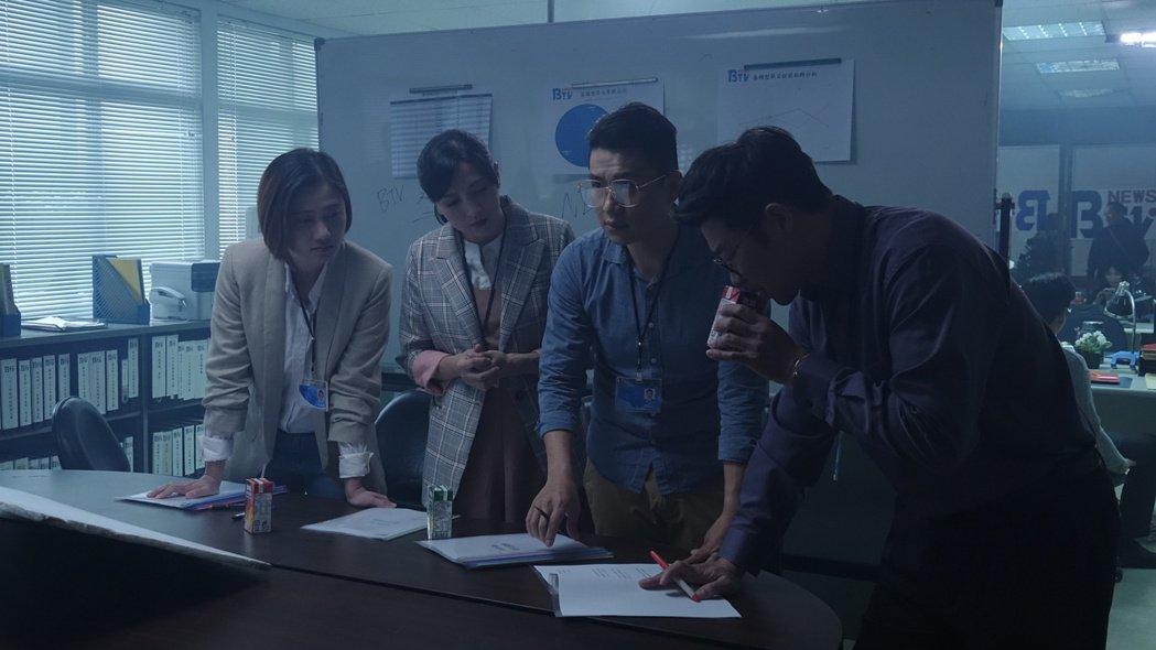 馬力歐(右起)、張銘祐、陳乃瑜、林延鳳演出「國際橋牌社2」。圖/國際橋牌社提供