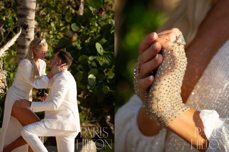 芭黎絲希爾頓男友Carter Reum求婚成功,兩人在網路上宣佈訂婚消息。圖/取自官網parishilton.com