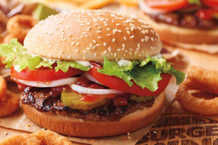 漢堡王華堡,單點價119元。圖/漢堡王提供