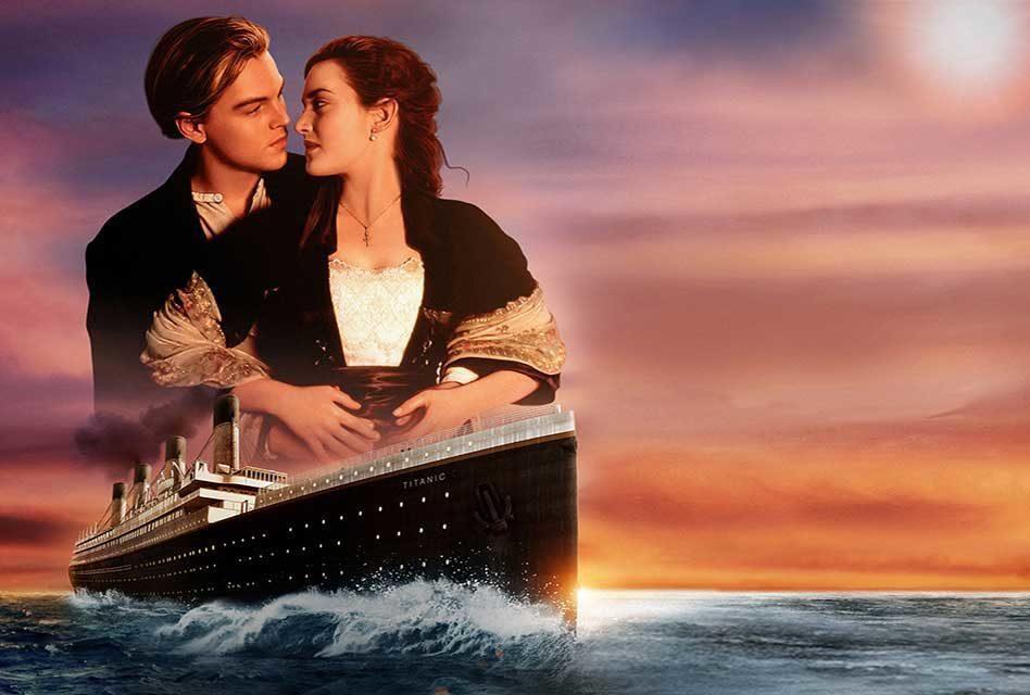 「鐵達尼號」李奧納多狄卡皮歐與凱特溫絲蕾的搭配,風靡不少觀眾。圖/摘自imdb