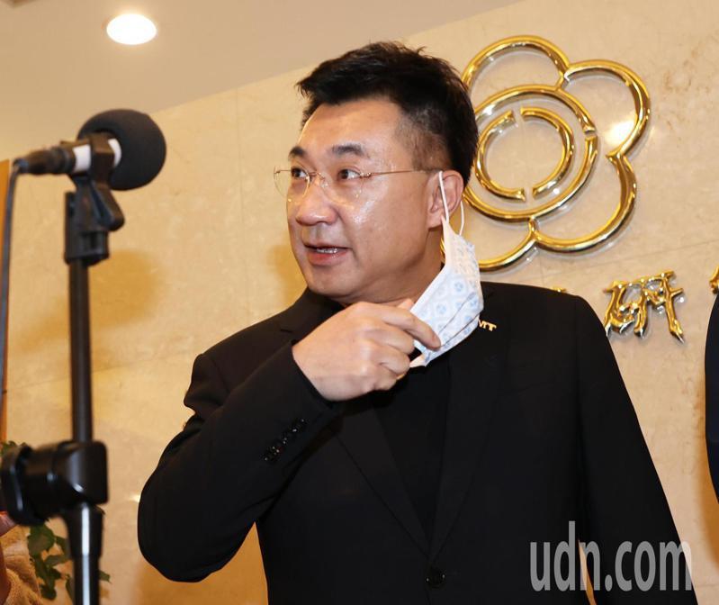 國民黨主席江啟臣20日布參選連任黨主席,但只做「造王者」而不角逐大位。記者潘俊宏/攝