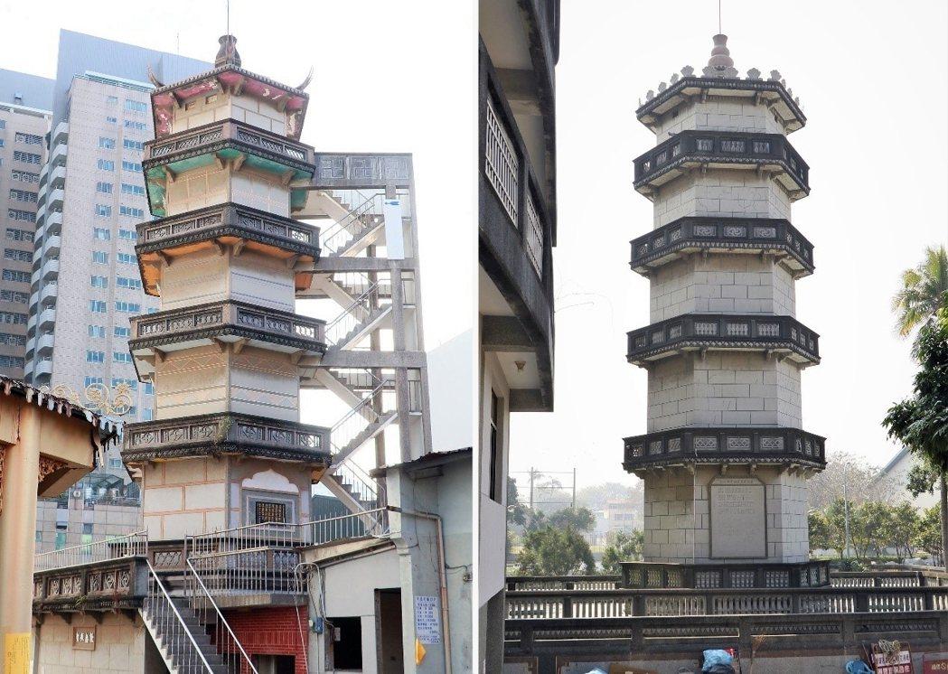 左:修禪院華嚴寶塔;右:竹溪寺蓮花寶塔。 圖/作者自攝