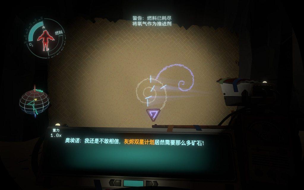 牆上的古文字、星球上的遺跡,都是幫助玩家理解悲劇全貌的工具。