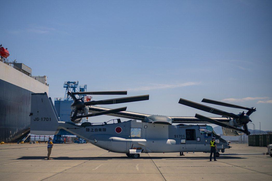 日本陸上自衛隊V-22。 圖/美國海軍陸戰隊