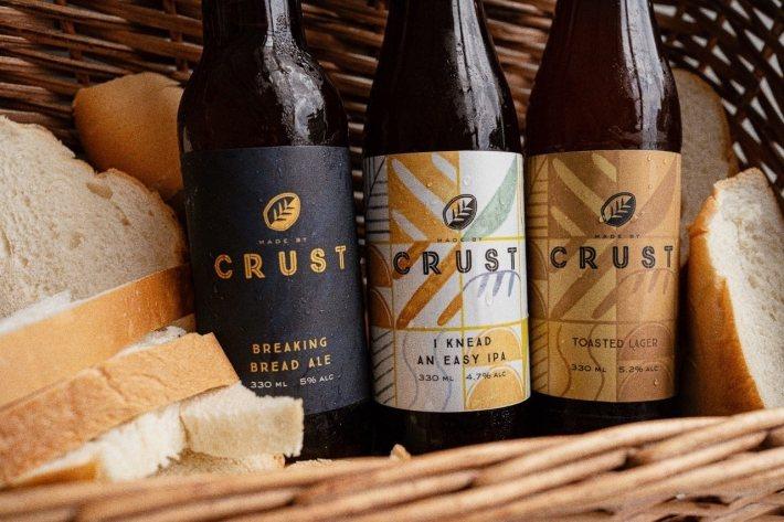 CRUST Group 以麵包釀製不同的啤酒。 圖/CRUST Group 粉絲...