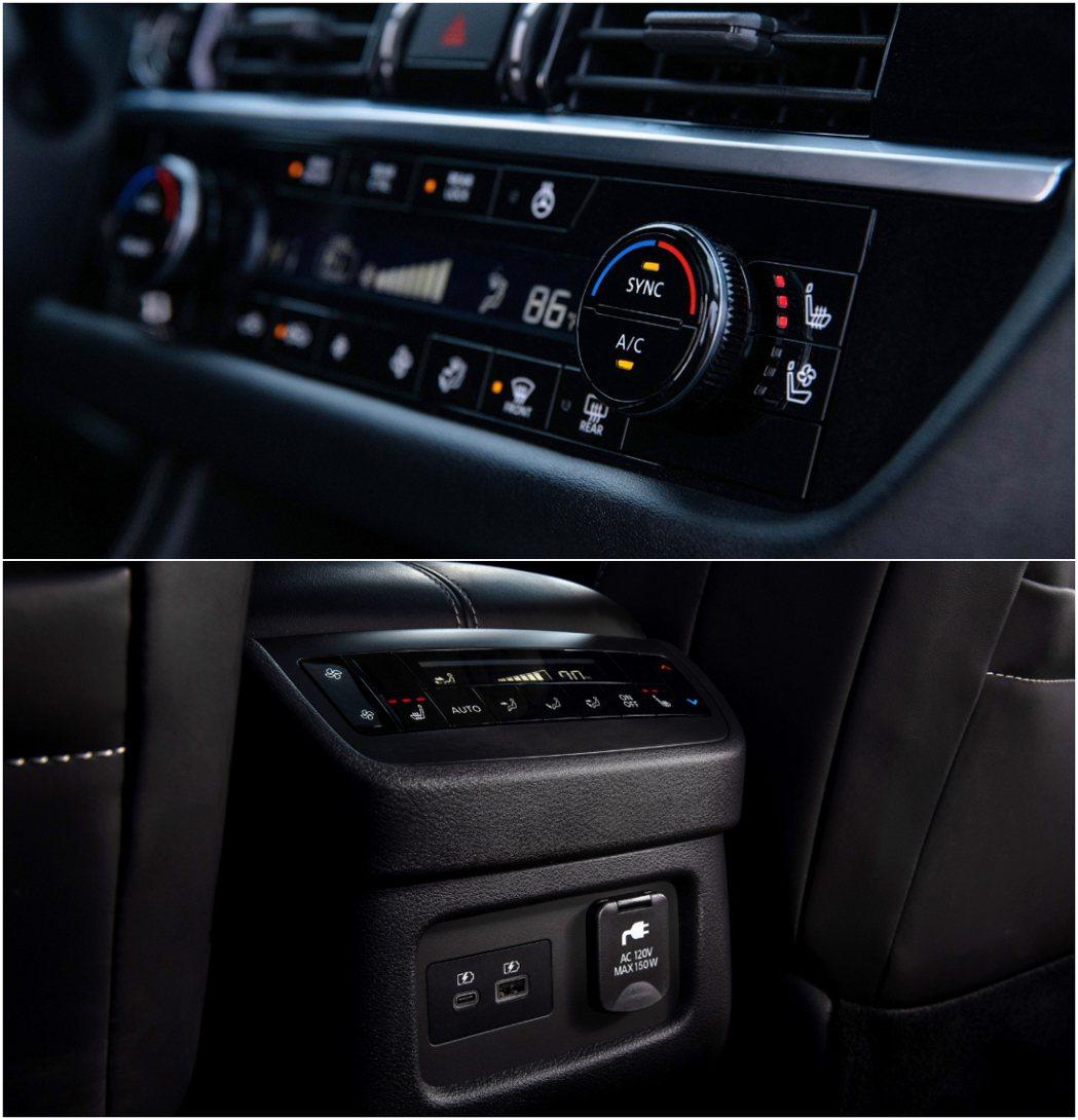 Pathfinder配備有三區恆溫空調系統。 圖/Nissan提供