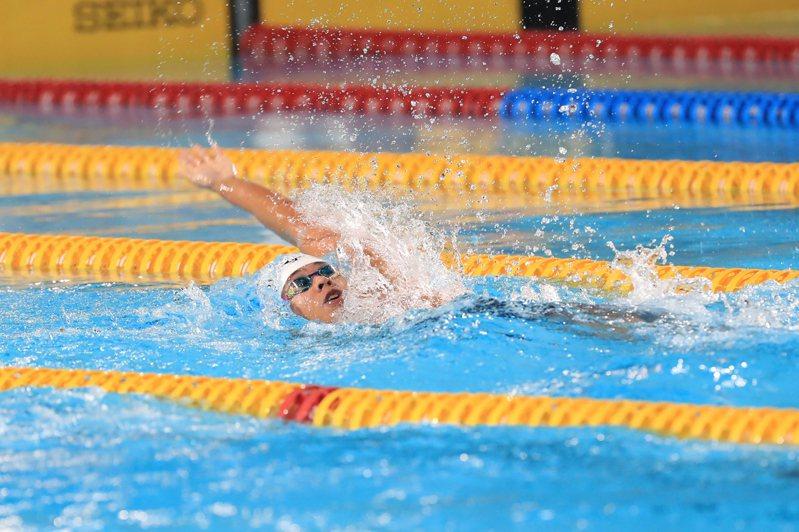 台灣泳將王星皓獲贊助。 中央社
