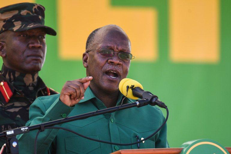 坦尚尼亞對疫情的消極態度讓WHO關切。圖為總統約翰.瑪格富利。(Photo from網路截圖)