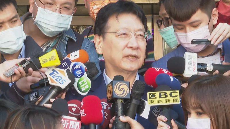中廣董事長趙少康接受媒體聯訪。記者任忠泰/攝影