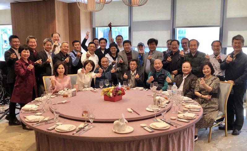 韓國瑜和韓團隊互動緊密,2月20日在台北的聚會,選在前副市長陳雄文服務的凱達大飯店。圖/讀者提供