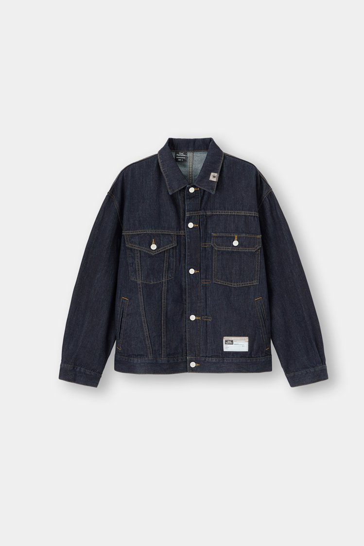 GU x MIHARAYASUHIRO聯名男裝牛仔外套1,990元。圖/GU提供