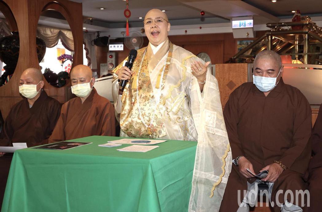 恆述法師宣布開宗立派成立「自在禪宗」。記者黃義書/攝影