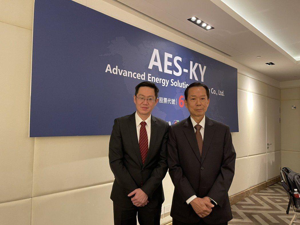 左起AES-KY總經理宋維哲、董事長宋福祥。謝艾莉/攝