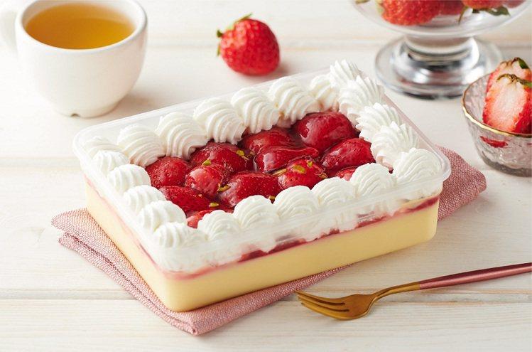 草莓鮮果布蕾,售價169元。圖/全聯福利中心提供
