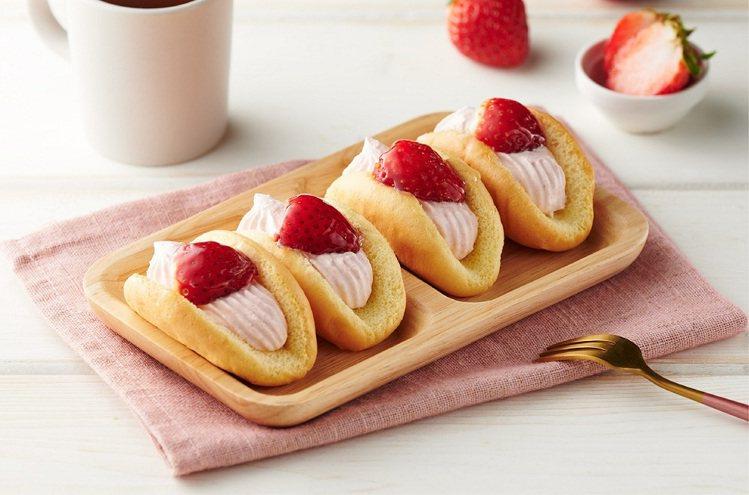 草莓花漾歐姆蕾,4入售價79元。圖/全聯福利中心提供