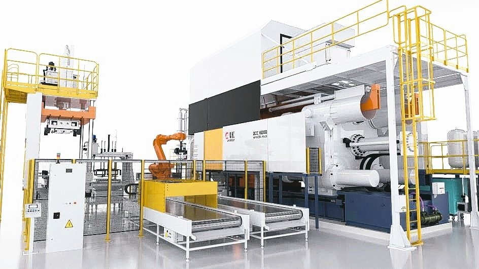 力勁集團全球首度發表超大型6000T的智能壓鑄機。力勁/提供