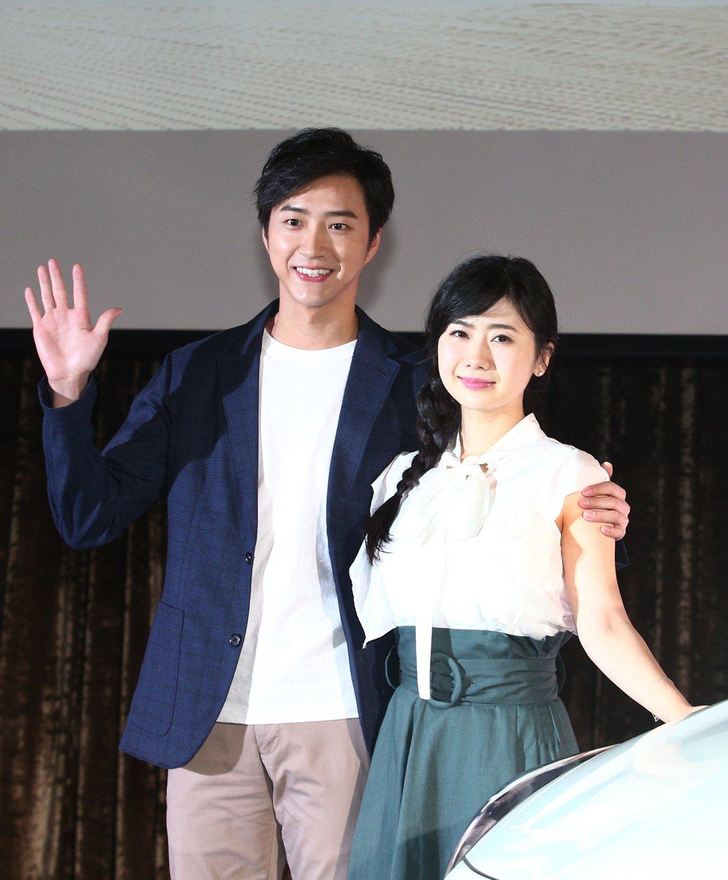 江宏傑(左)與福原愛(右)曾一起出席汽車活動。本報資料照片