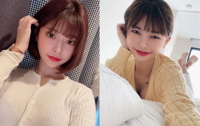 韓國網紅恩優花性感作風加豐滿身材,社交媒體上的相片更是令人目不暇給。(IG「uuuh_a」圖片)