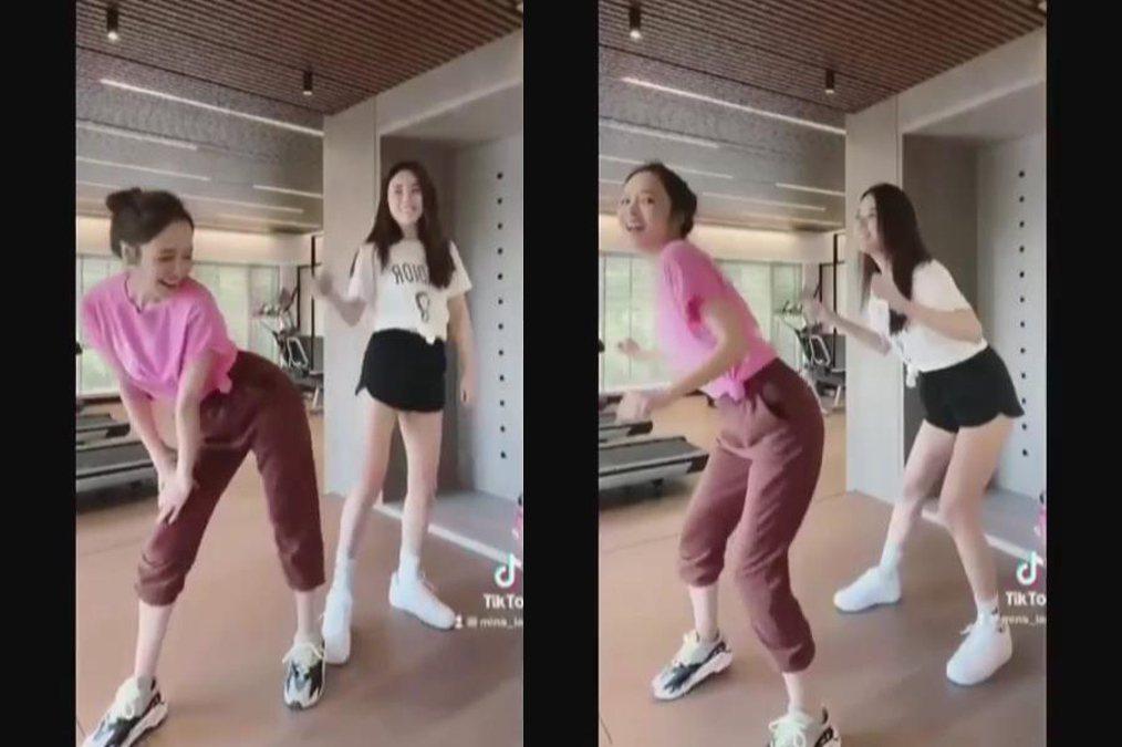 侯佩岑與江佩蓉合體跳舞秀電臀。圖/擷自IG