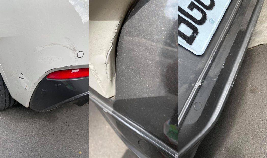 陸元琪車停路邊卻被撞。圖/擷自臉書