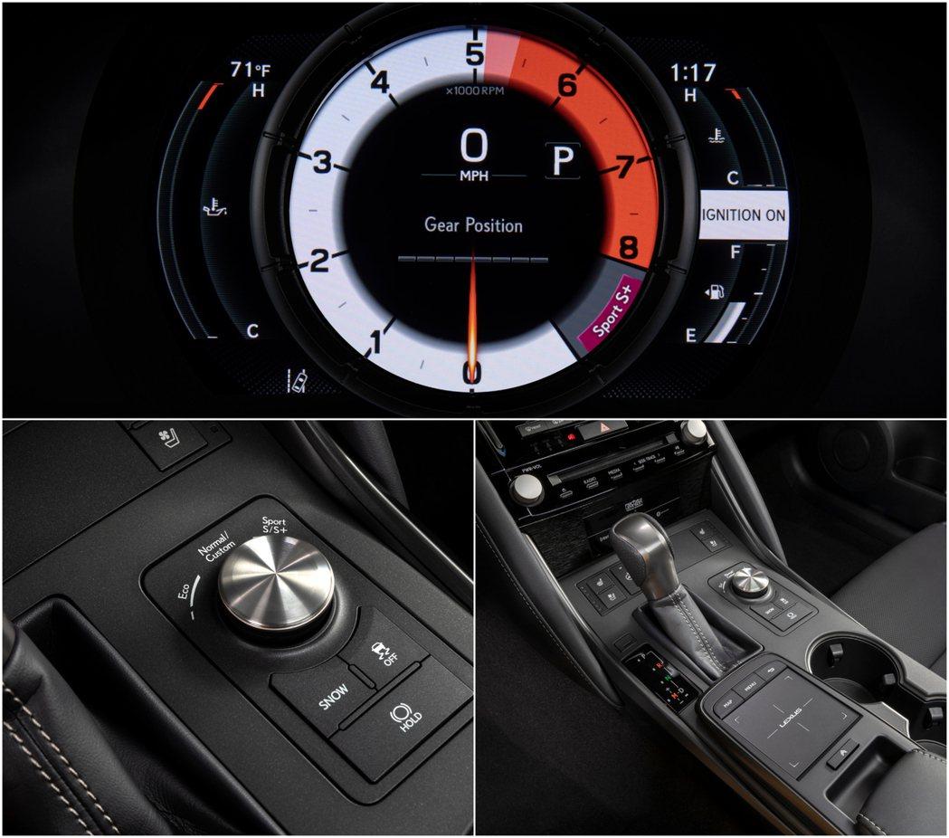 IS 500提供Sport S和Sport S +駕駛模式選擇。 圖/Lexus...