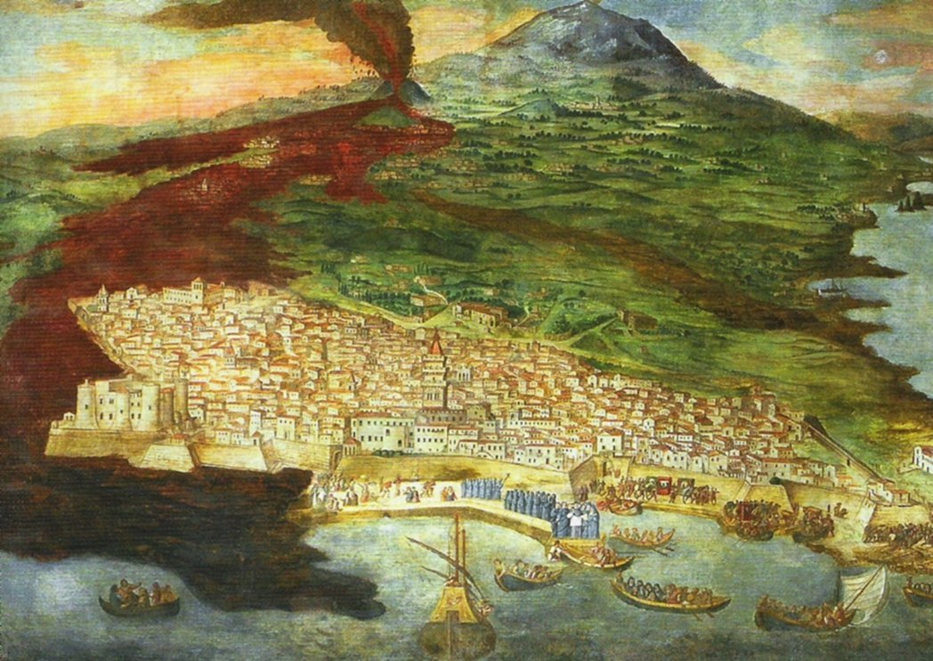 Mount Etna and Catania paintings in the 17th century.Photo/Wikimedia Commons