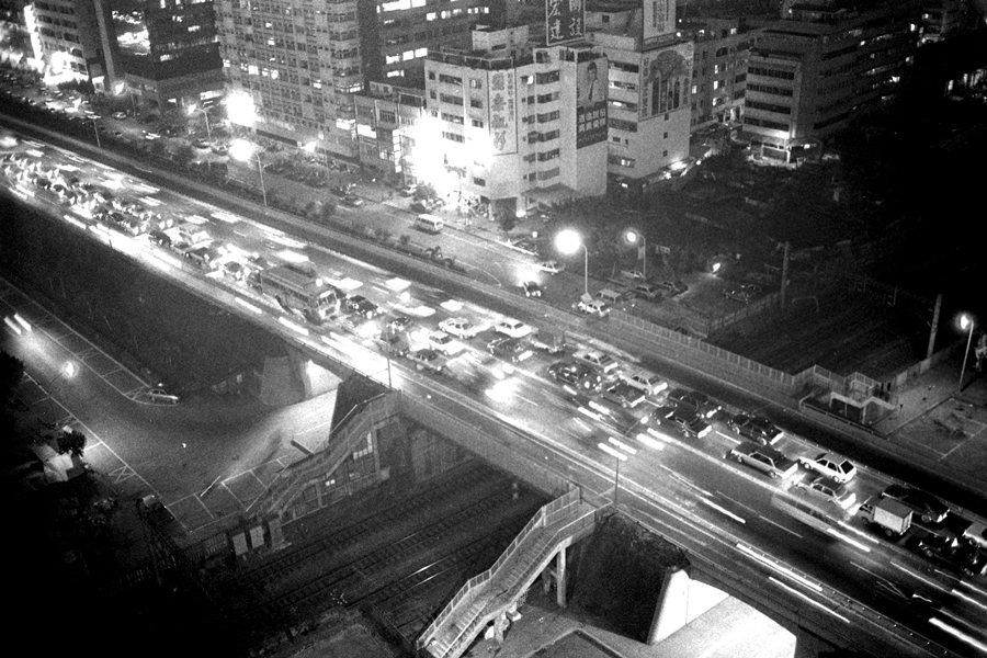 復旦橋夜景,攝於1987年。 圖/聯合報系資料照
