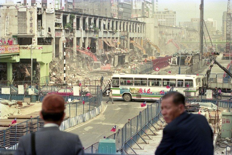 中華商場於1992年陸續拆除。 圖/聯合報系資料照