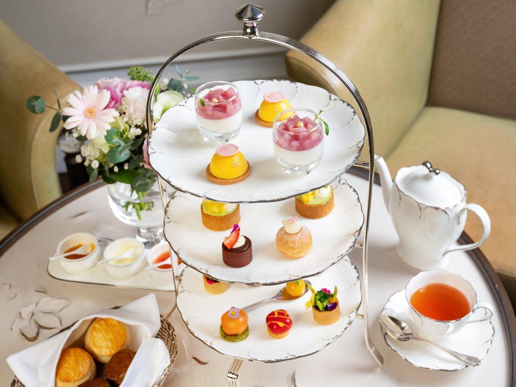 台北文華東方酒店「青隅」3月份推出繽紛春漾下午茶。 台北文華東方酒店/提供