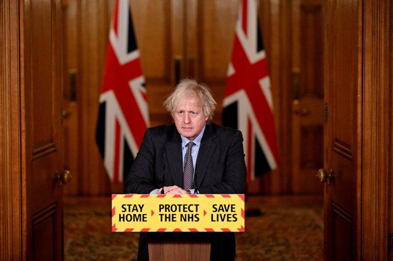 英國首相強生今對國會宣布4階段解除封城計畫。路透社